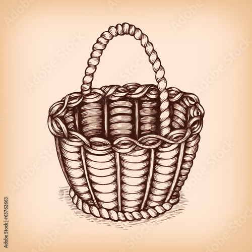 Wicker basket emblem