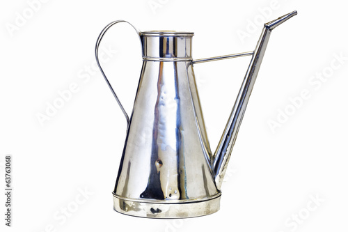 Antique arab teapot on a white background .