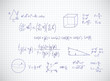 Hand writing mathematics formula. Vector