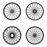 Fototapety Bicycle wheels isolated on white background, vector format