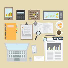 Office accessories, vector format