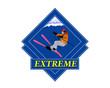 Adventure. Winter Sport Emblem.Freestyle Skiing.Extreme Skiing.