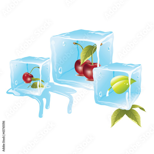 Cherry ice cubes