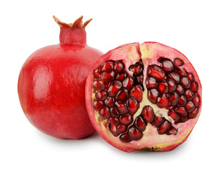 pomegranates fruit isolated on white background