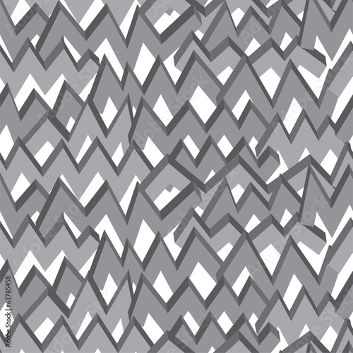 Black-white zigzag line seamless pattern