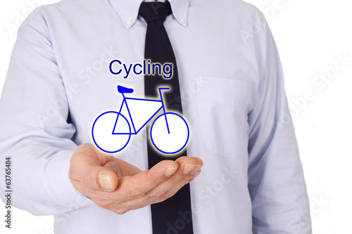 businessman with bike