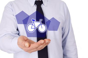 businessman with bike