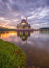 Putra mosque at dawn, Putrajaya, Malaysia