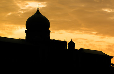 Islamic mosque dome silhouette
