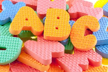 lettres en mousse