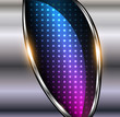Abstract background 3D metallic with dots pattern