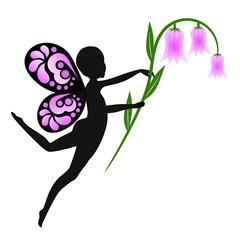 Elfe mit Glockenblume