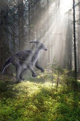 Dinosaur in the forest