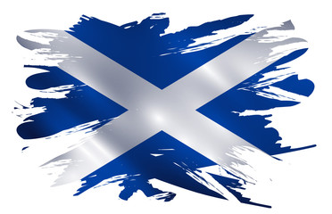Scotland flag paint splash vector illustration