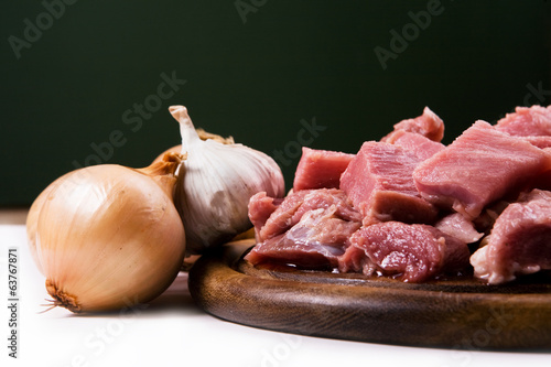 meat with onions and garlic