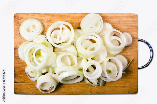 onion isolated with clipping path