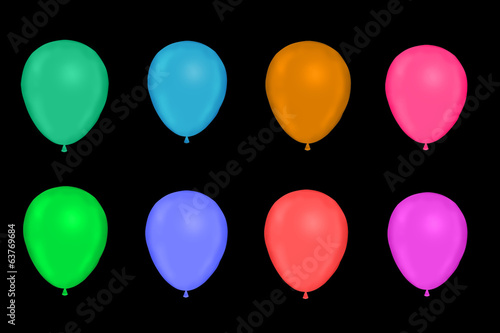 dark Color ballons
