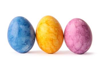 Eier dreifarbig