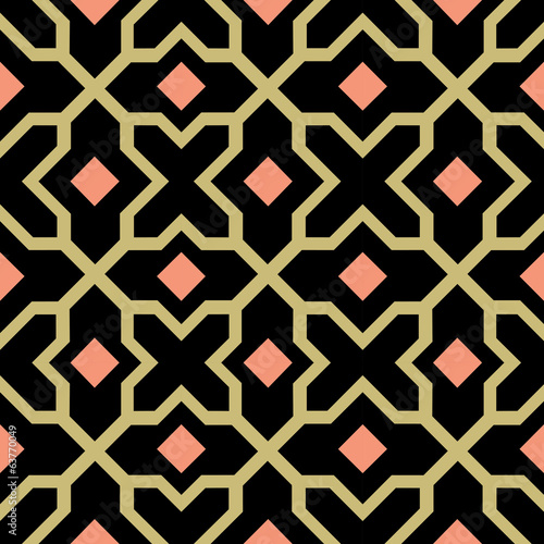 Arabesque seamless pattern - tiled blocks background