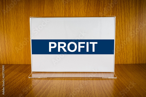 profit on Acrylic card holder