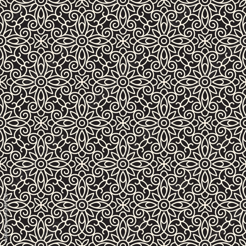 Seamless lace pattern, abstract swirly ornament