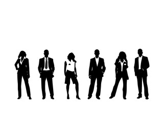 Business people layout Vector