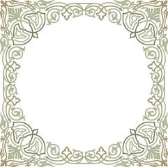 Oriental ornament - square border frame