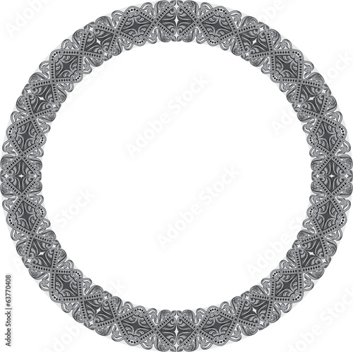 Circular shape with oriental ornament
