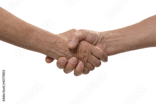 Handshake isolated on a white