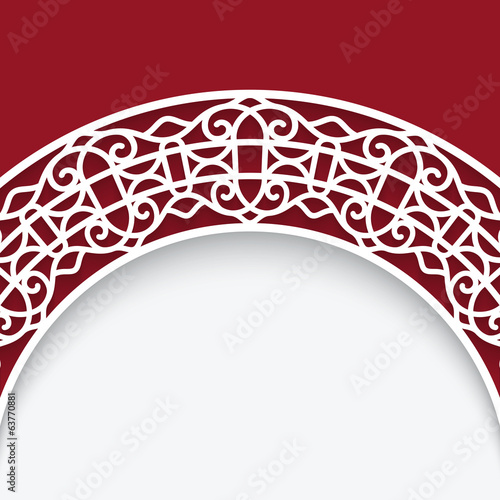 Cutout paper lace background