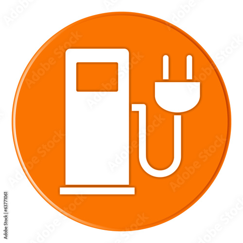 Button - Charging Station - Ladestation - orange - g819