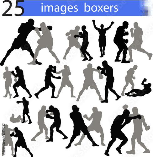 Fototapeta 25 images boxers