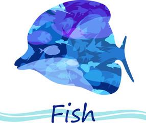 Vector tropical fish