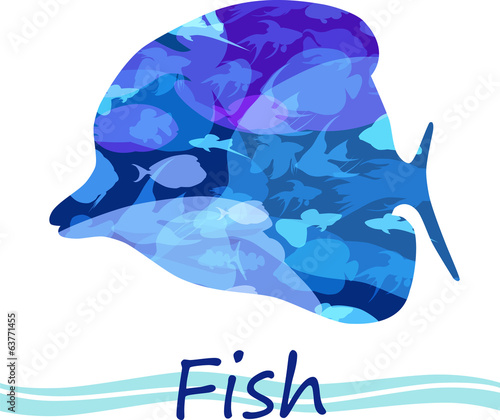 Vector tropical fish