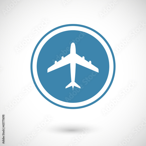Plane and travel icon