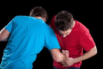 Men during fight