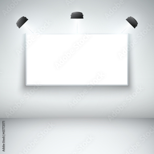 Illuminated blank gallery frame