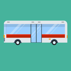 Bus flat illustration