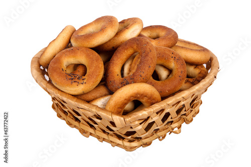 basket with dry bread-ring
