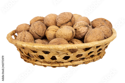 basket with walnuts