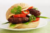hamburger  with  wild garlic