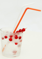 summer drink with cranberry
