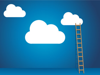 Cloud services with cloud and ladder