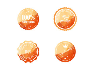 Set of vintage retro badges