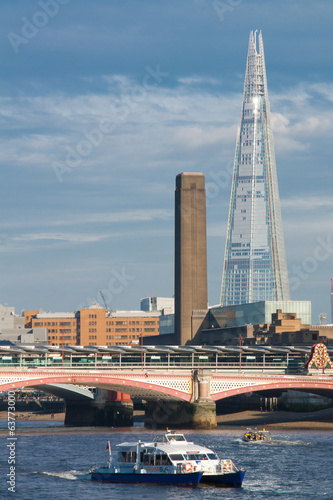 the shard and the tower of tate modern museum