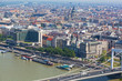 Danube Embankment in Budapest, the top view