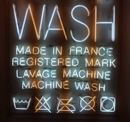wash sign