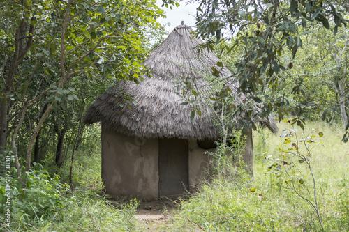 Rural African hut in south africa nature