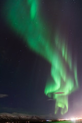 Aurore sur la baie de Raykjavik