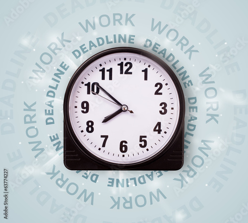 Clocks with work and deadline round writing